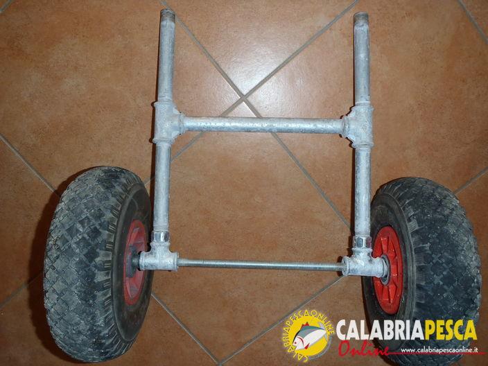 Calabria pesca online carrello autocostruito per kayak - Porta canne da pesca fai da te ...